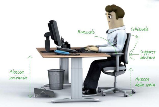 sedie da ufficio per postura corretta modello