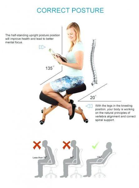sedie da ufficio ergonomiche con poggia ginocchia benefici